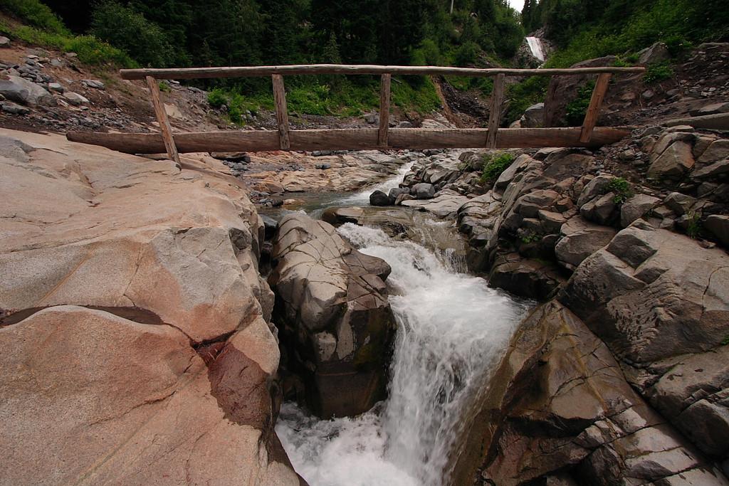 Comet falls trail bridge