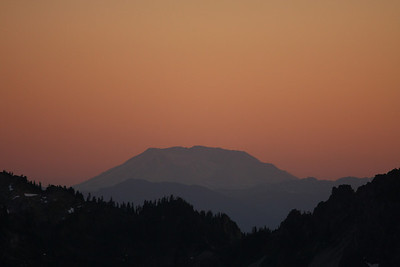 Mt. St. Helens right before sunset