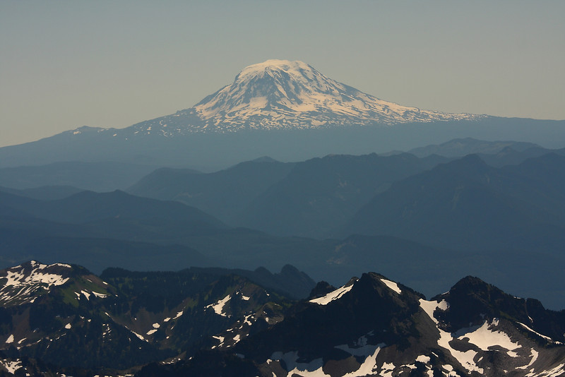 This is Mt. Hood viewed from Camp Muir - Mt. Rainier - 10 000 ft