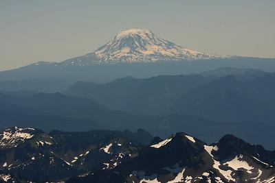 This is Mt. Hood viewed from Camp Muir - Mt. Rainier - 10 000 ft