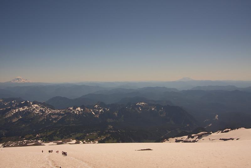 Vista from Camp Muir (Mt. Adams, Mt. Hood, Mt. Helen)