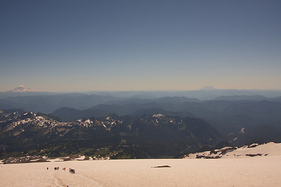 Vista from Camp Muir (Mt. Adams, Mt. Hood, Mt. Helen)