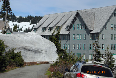 Lodge at Mt. Ranier, Washington.  Yes, that snow really is that high!