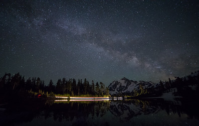 Milky way at Picture Lake