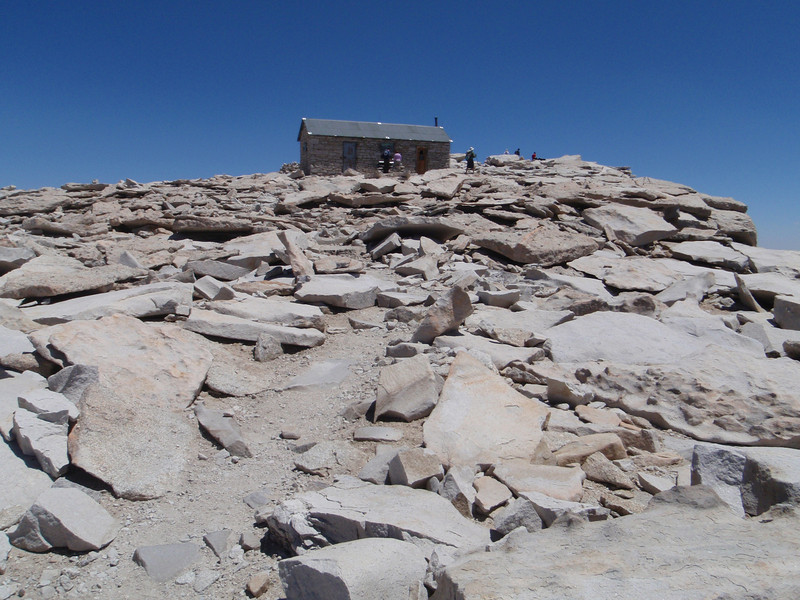 Mt. Whitney - summit hut, on the way down