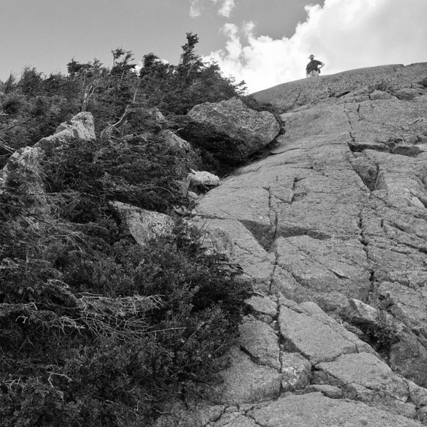 the final rock scramble to the summit of Mt. Jackson.  That's my husband up there.