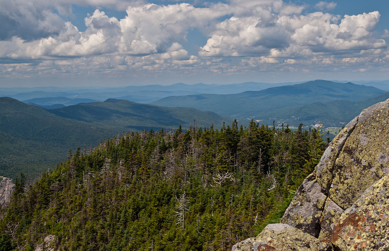 from the top of Mt. Webster.  Just to the left of the top of the rock is the Mount Washington hotel.