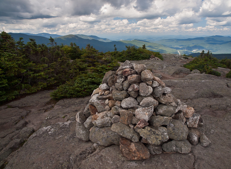 The cloud cover made the light really changable, but I think it helped with this shot of the traditional summit cairn.
