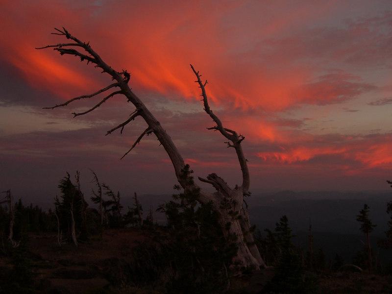 Sunset on Mt Adams. August 2006