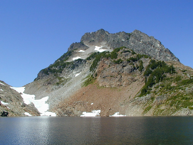 Del Campo Peak, from Foggy Lake. August 2001