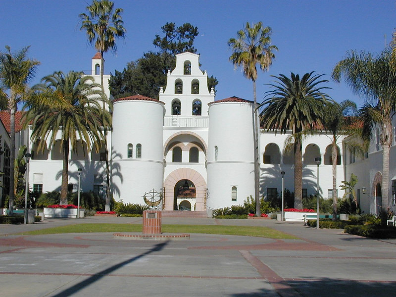 Hepner Hall, on the campus of San Diego State University. December 2000.