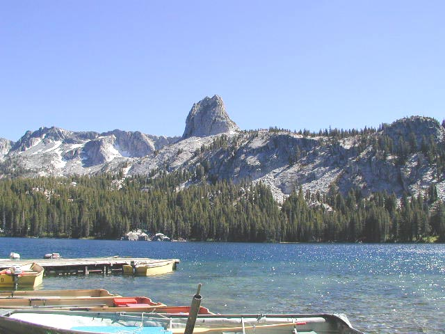 Crystal Crag, from Lake George. July 2000