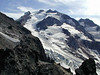 Upper slopes of Glacier Peak. Viewed from below Kennedy Peak. September 2002.