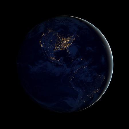 NASA new earth at night images