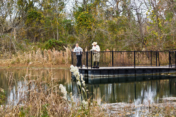 Testing water quality at Bullfrog Pond
