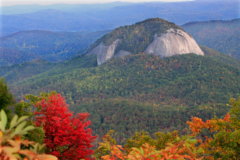 Looking Glass Rock - Fall Color at Dusk