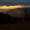 Rising mist at sunrise, Sunrise from Blue Ridge Parkway