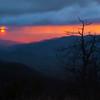 Double sun sunrise, Sunrise from Blue Ridge Parkway