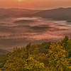 Valley fog Sunrise from Blue Ridge Parkway