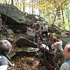 Jane & Walt Daniels Sylvan Glen Hike 10-15-2011 (Jolly Rovers NY/NJ Trail Conference volunteer stone work crew in action)