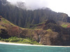 You can see some hikers on the beach.  The magical Kalalau Valley is above the waterfall.