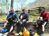 Part of the group at the lunch break - Nantahala River, April 22, 2007