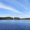 Haukkajaarvi panorama with swans
