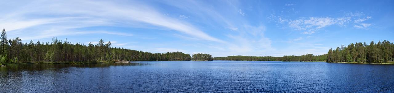 Haukkajaarvi panorama with swans