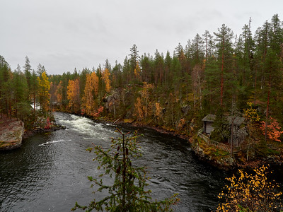 Myllykoski rapids and the old cabin