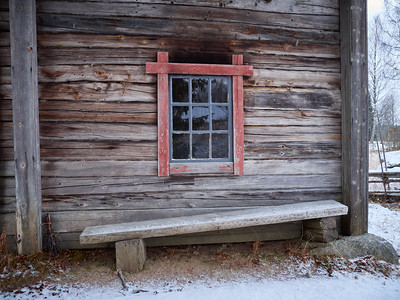 Sauna window. Kovero farm