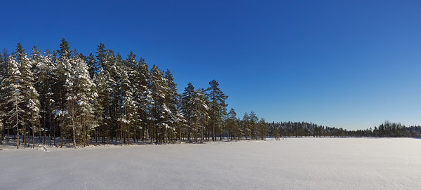 Blue and white panorama