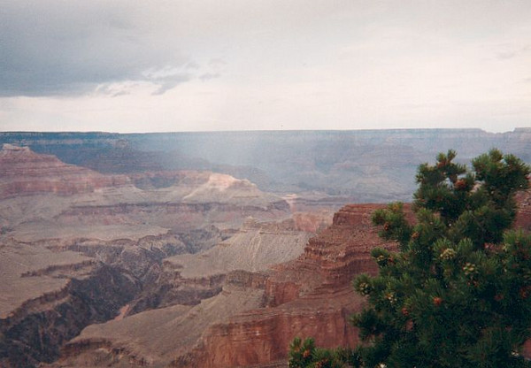A view of the Grand Canyon from the north rim, taken in 1992.