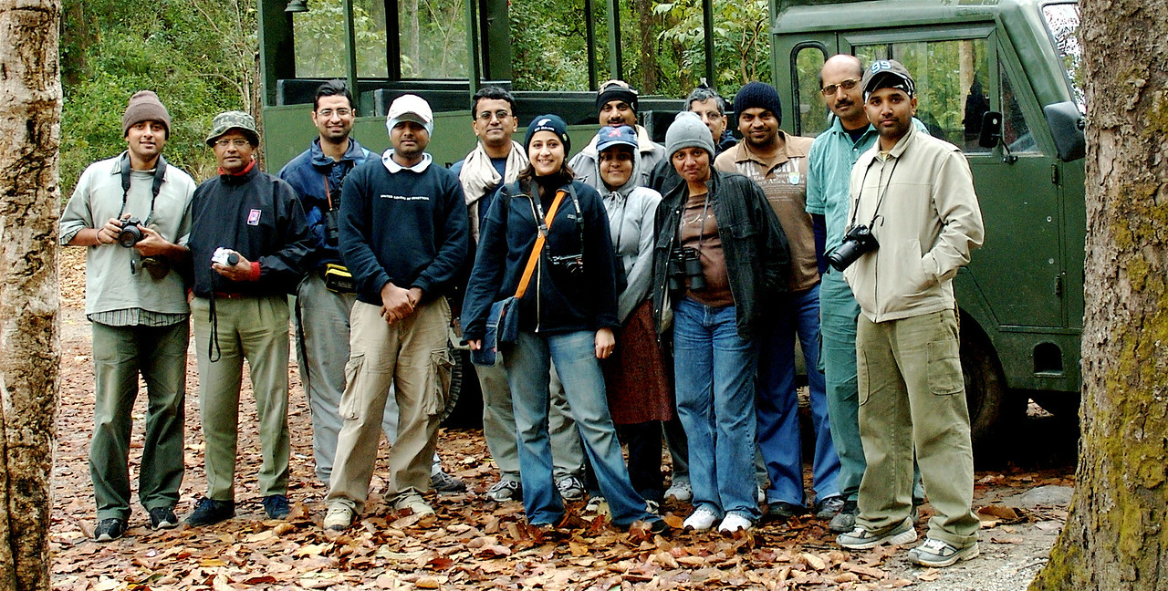 The Nature Camp Group. Ramesh decided to hide himself.