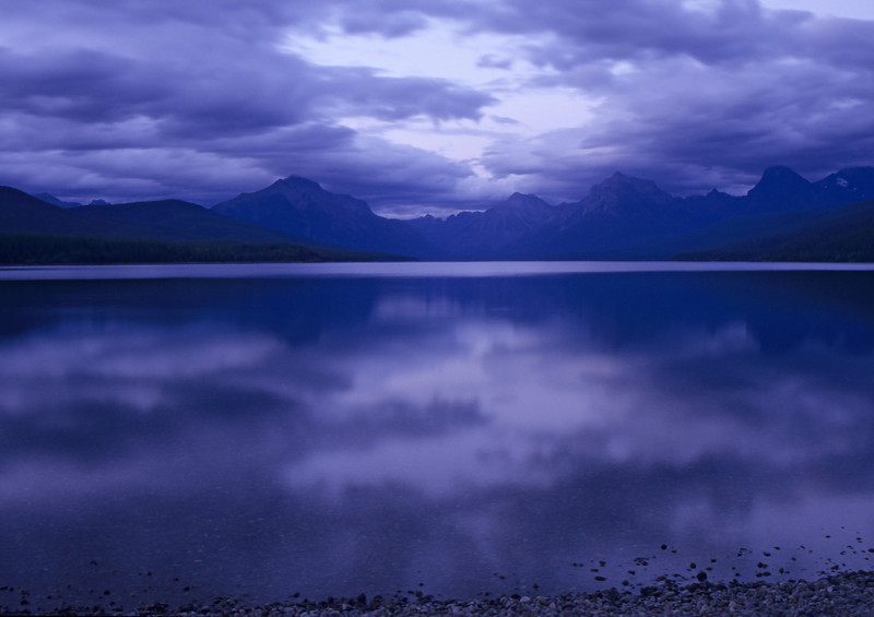 Dusk over Lake McDonald. Glacier National Park, MT