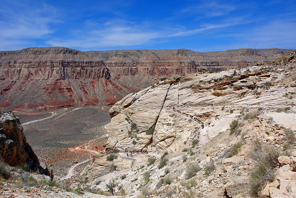 Trail down Hualapai Canyon and Supai Village @ Grand Canyon, AZ
