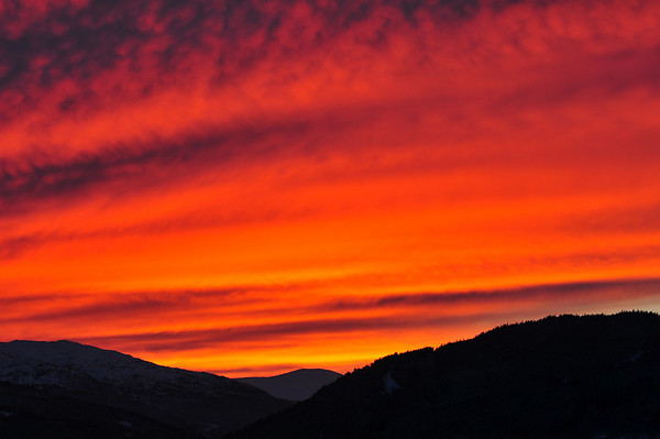 Solnedgang over Voss 10.03.2011