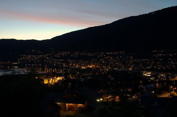 Nattbilde, Vossevangen..