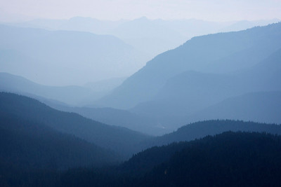 Smoky ridgelines, Mount Rainier National PArk, Washington