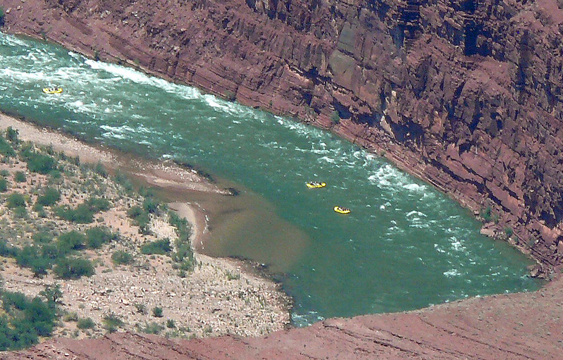 Rafters in the Grand Canyon