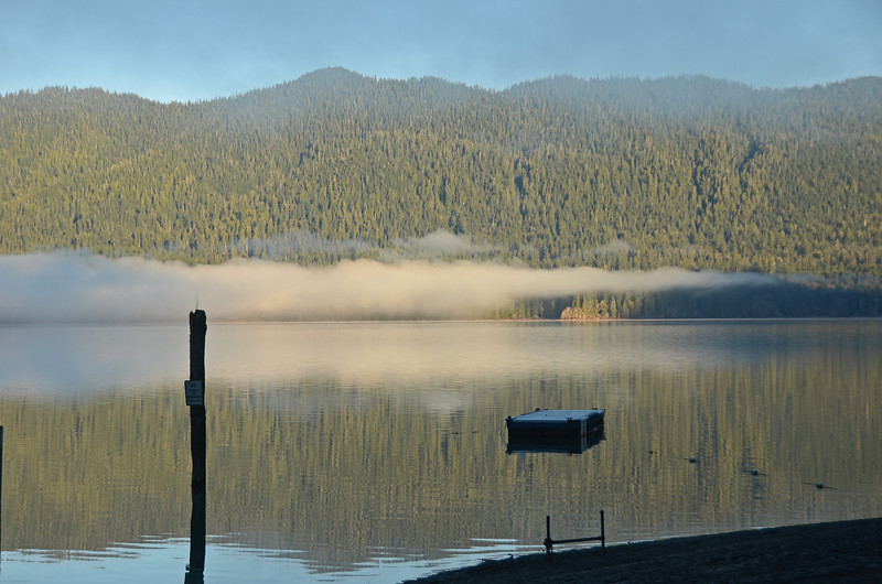 A frosty Lake Quinault