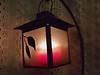 Small lantern glowing