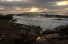 Rocky Reflections in Sunset; La Jolla, CA