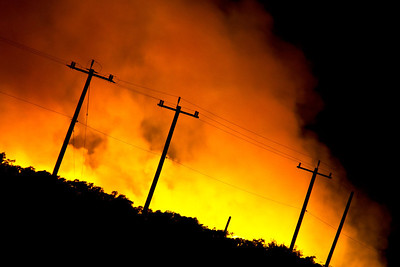Wild fires in Selma, Texas