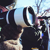 Globe/T. Rob Brown<br /> Missouri Deparment of Conservation naturalist Kevin Badgley (left) uses a spotting scope to watch eagles from the Moses Eagle Village Park in Stella on Saturday afternoon, Jan. 24, 2009, during the Missouri Department of Conservation Eagle View.