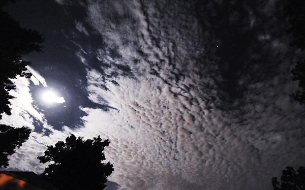 Globe/T. Rob Brown<br /> The moon and late night sky, Sept. 7, 2011, over Carl Junction.