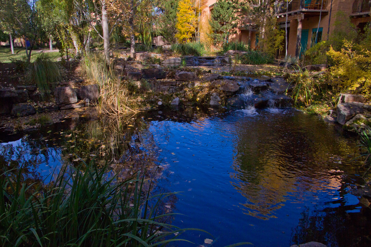 one of the many water features at El Monte Sagrado, Taos, New Mexico