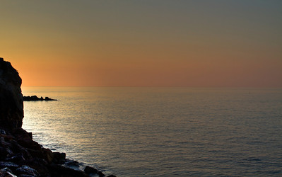 Taken about one hour before the sun will rise, in Varigotti, Liguria, Italia.