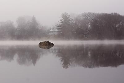 Fog at Sunset Lake
