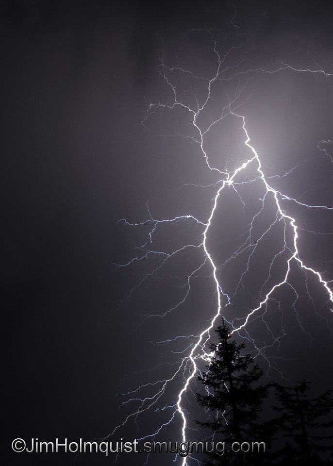 """""""E"""" is for Electric <br /> <br /> Lightning during a night storm."""