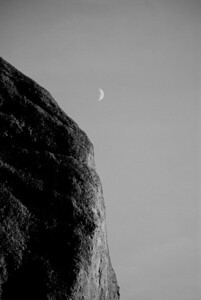 Moon Over the Mountains Pinnacles